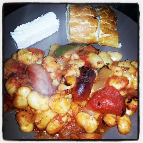 Mediterranean recipe for butter beans in tomato sauce