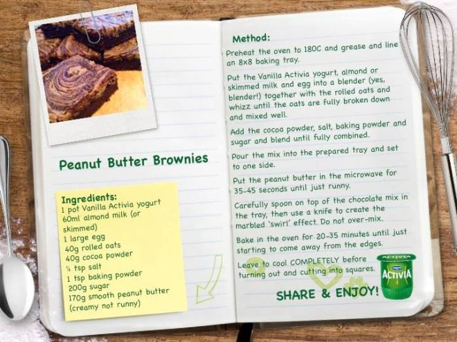 dadone activia brownie recipe