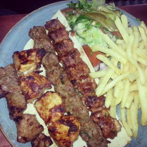 mixed grill lebanese street food